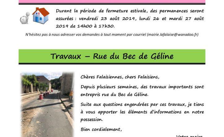thumbnail of FLASH N° 46 HorairesÉté TvxOrangeBecGélineDéviation