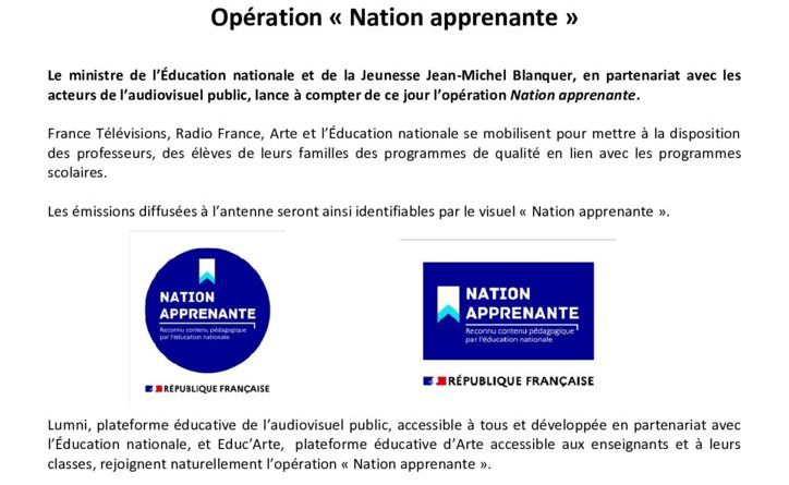 thumbnail of CP 19032020 opération Nation apprenante