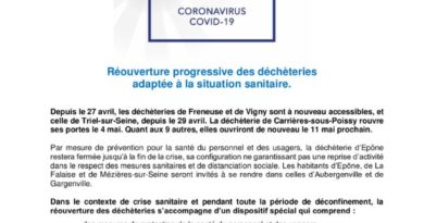 thumbnail of CP Covid-19 – Reouverture decheteries _04_05_2020