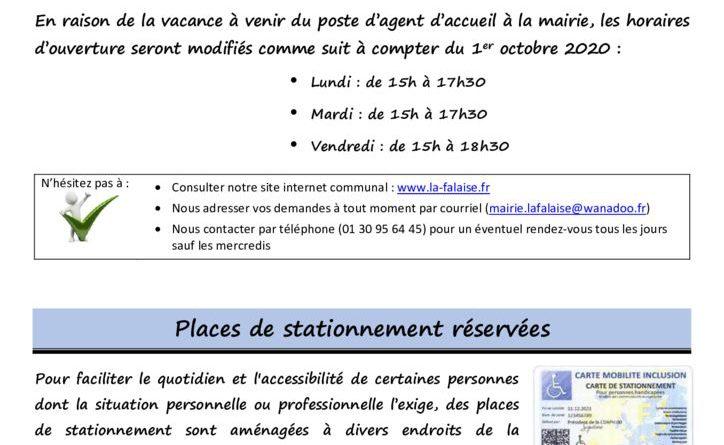 thumbnail of FLASH N° 3 NouveauxHorairesMairie PlacesRéservéesHandicapEcole ProjetMAM CouponColisNoel