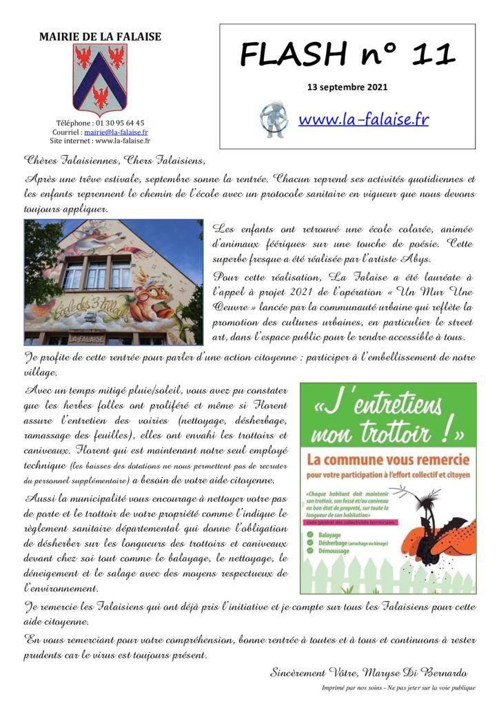thumbnail of FLASH N° 11 EditoActionCitoyenneEntretienTrottoirs TvxFermetureVoies MesProduitsEnYvelines CampagneNettoyageAvaloirs TrannsportDemande InfosDpt